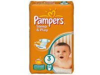 Pampers Sleep+Play VP Midi 58ks