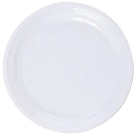 Talíř plast 22cm bílý 20ks