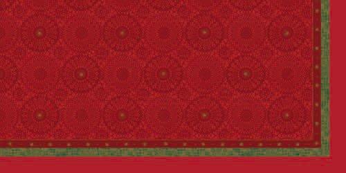 Ubrus 84x84 DSilk Festive Charm Red/om