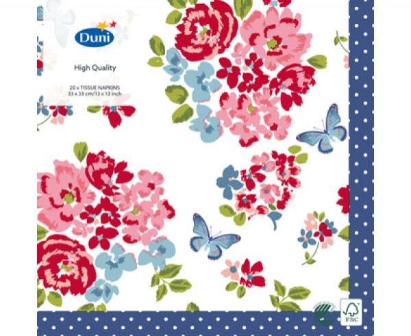Ubrousek 33x33 3V Sweet Roses 20ks