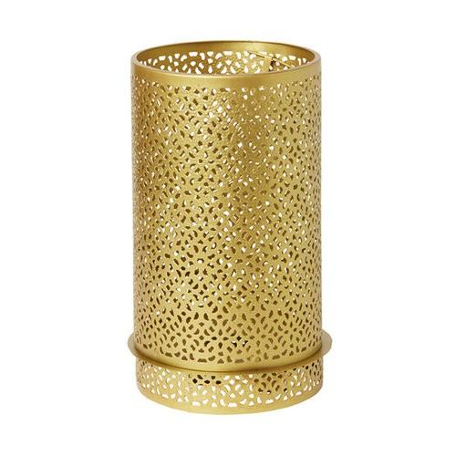 Svícen Bliss zlatá kov 200x120mm LED