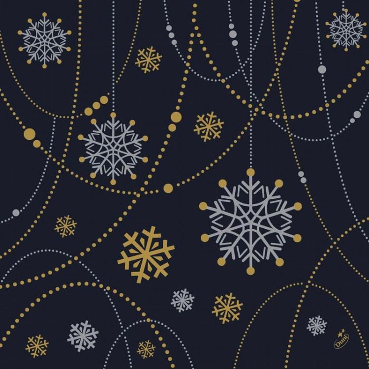 Ubrousek 40x40 Dlin Snowflake neckl B 50