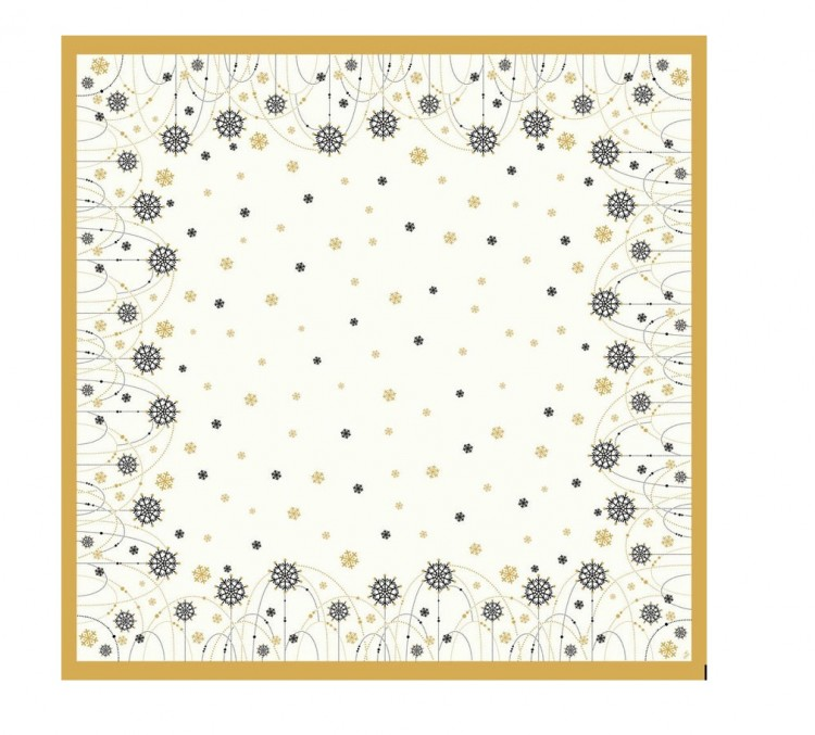Ubrus 84x84 Snowflake neckl.White neomy