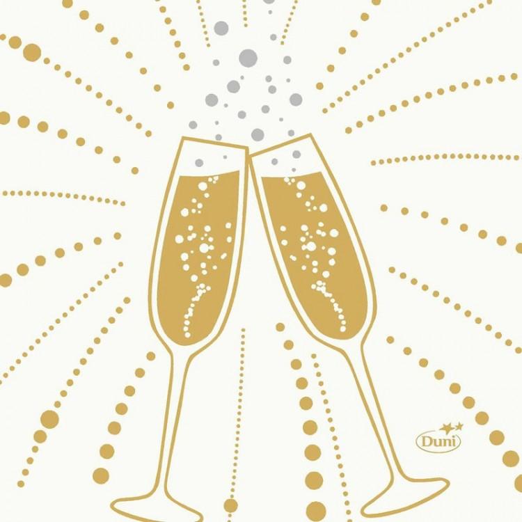 Ubrousek 24x24 3Vr Festive Cheers Wh 50k
