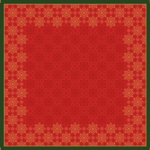 Ubrus 84x84 DSilk Xmas Deco Red omyvat