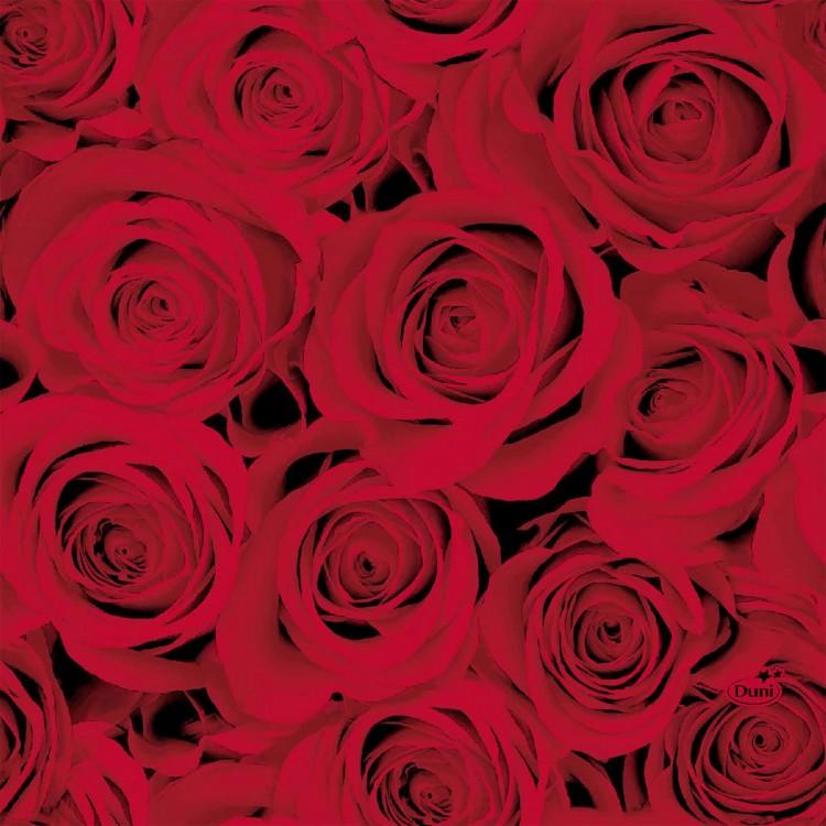 Ubrousek 33x33 3V Red Roses 20ks