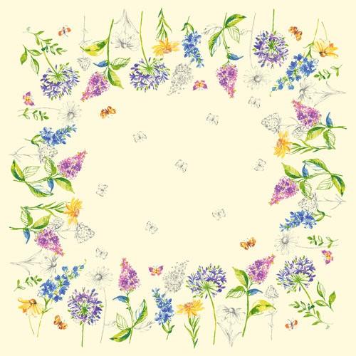 Ubrus 84x84 DSilk Sweet Spring omyvateln