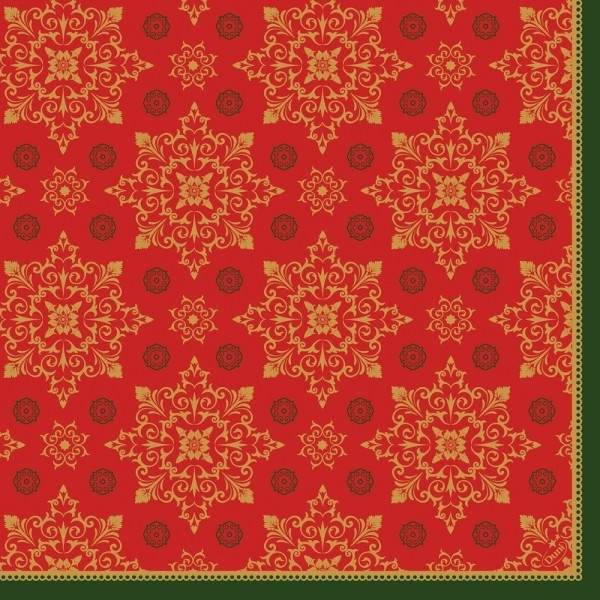 Ubrousek 40x40 Dsoft Xmas Deco Red 60ks