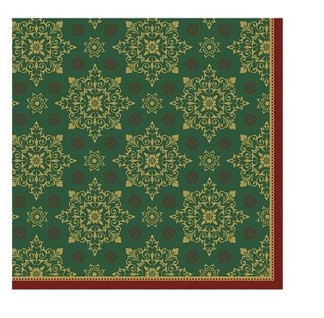 Ubrousek 40x40 Dsoft XmasDeco Green 60ks