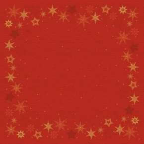 Ubrus 84x84 DSilk Star Stories Red omyva