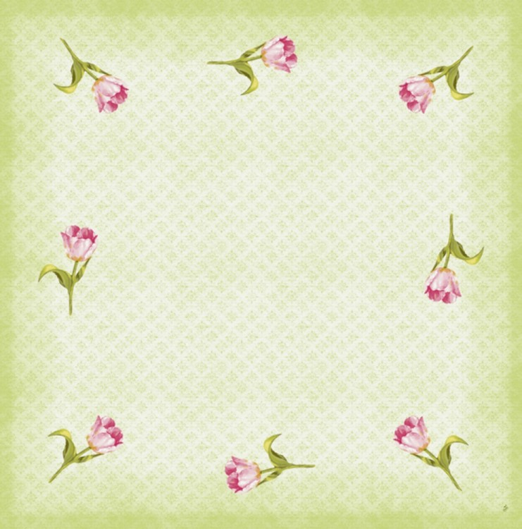 Ubrus 84x84 Dcel Love Tulips neomyvateln