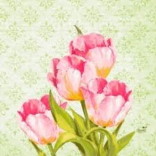 Ubrousek 33x33 3V Love Tulips 50ks