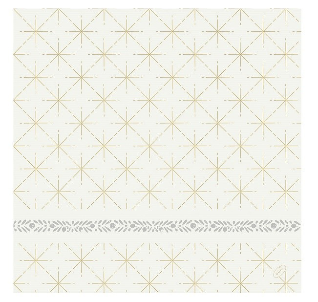 Ubrousek 40x40 DSoft Glitter White 60ks