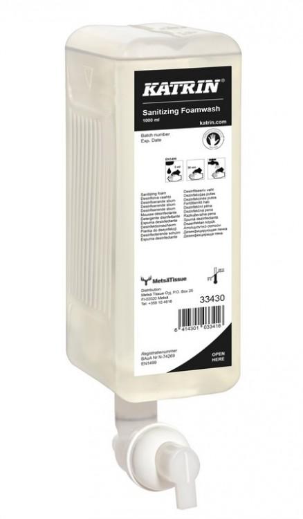 Tek. mýdlo pěnové antibakt. Katrin 1l