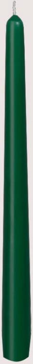 Svíčka 25cm Tmavě zelená 1ks