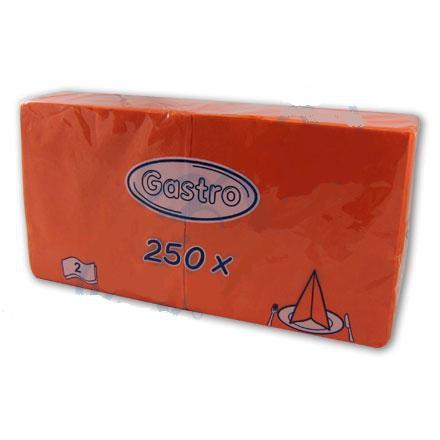 Ubrousek 24x24 2V oranžový 250ks
