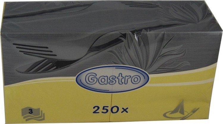 Ubrousek 33x33 3V žluté 250ks